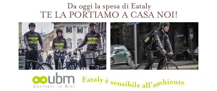 La spesa di Eataly Smeraldo a casa tua con Urban Bike