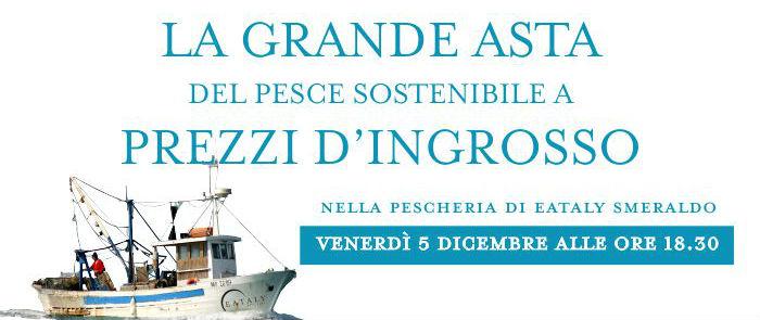 L'asta del pesce di dicembre a Eataly Milano Smeraldo