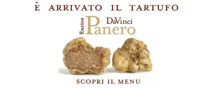 Il menu tartufo bianco del Ristorante DaVinci